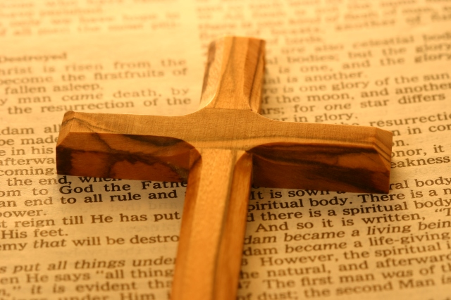 We read the Bible through the cross