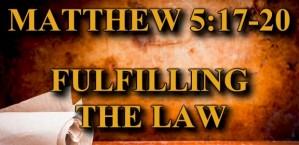 Matthew 5:17-20